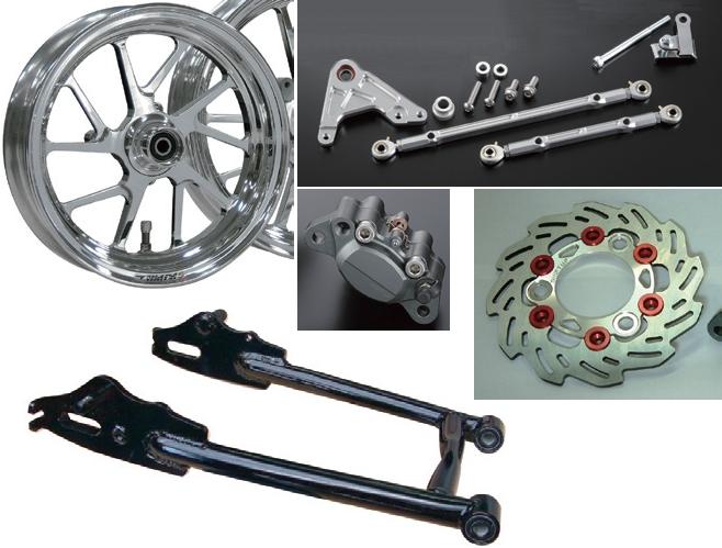 長搖臂及GALE SPEED 後輪框/後煞車套件