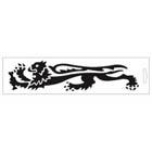 【MALOSSI】黑色・Lion24cm 左側 貼紙