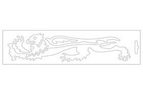 【MALOSSI】白色・Lion24cm 左側 貼紙 - 「Webike-摩托百貨」