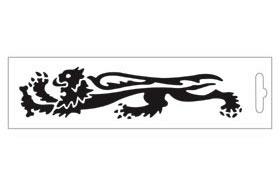 黑色・Lion16.6cm 左側 貼紙