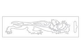 白色・Lion16.6cm右側 貼紙