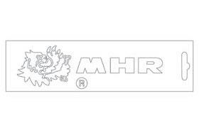 白色・MHR Logo 16.6cm 貼紙