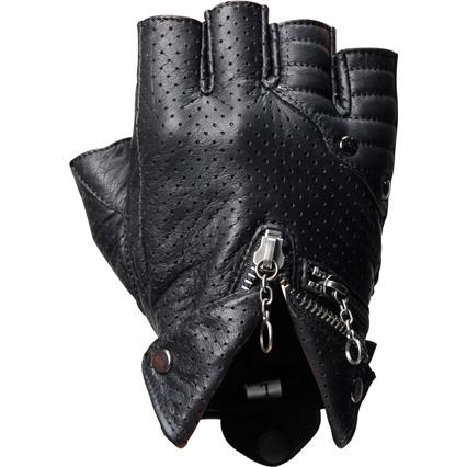 半指打孔皮革手套