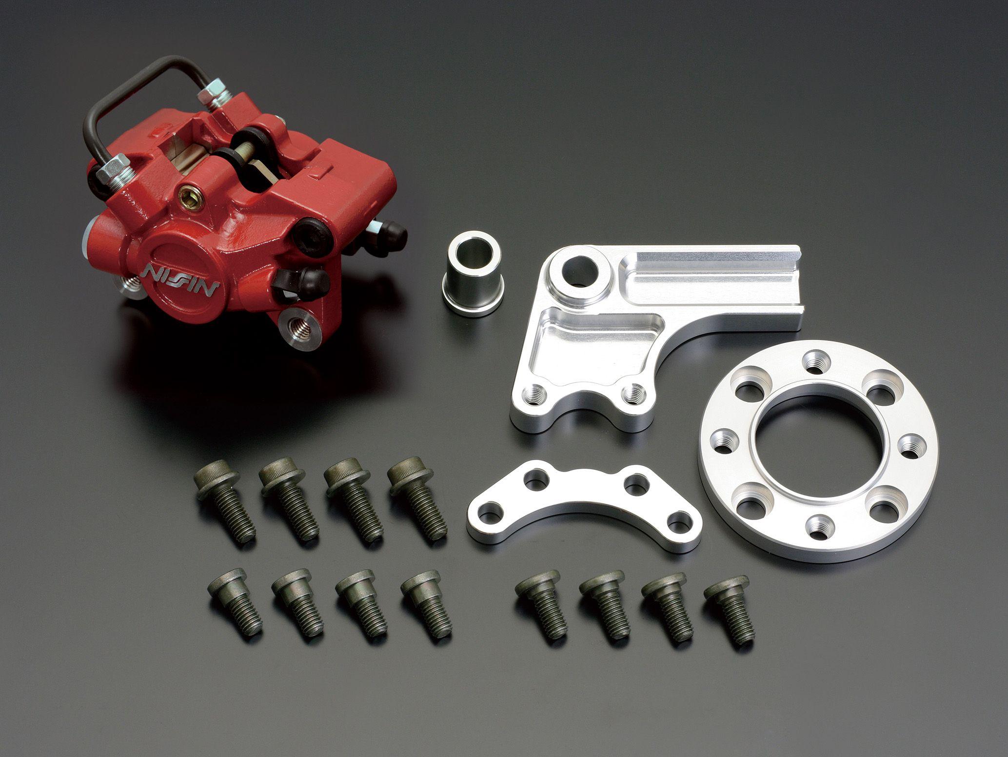 NISSIN 2POT 紅色煞車卡鉗 後碟煞套件