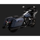 【VANCE&HINES】排氣管尾段 黑色 (OVERSIZE 450 DESTROYER SLIP-ONS BLACK)