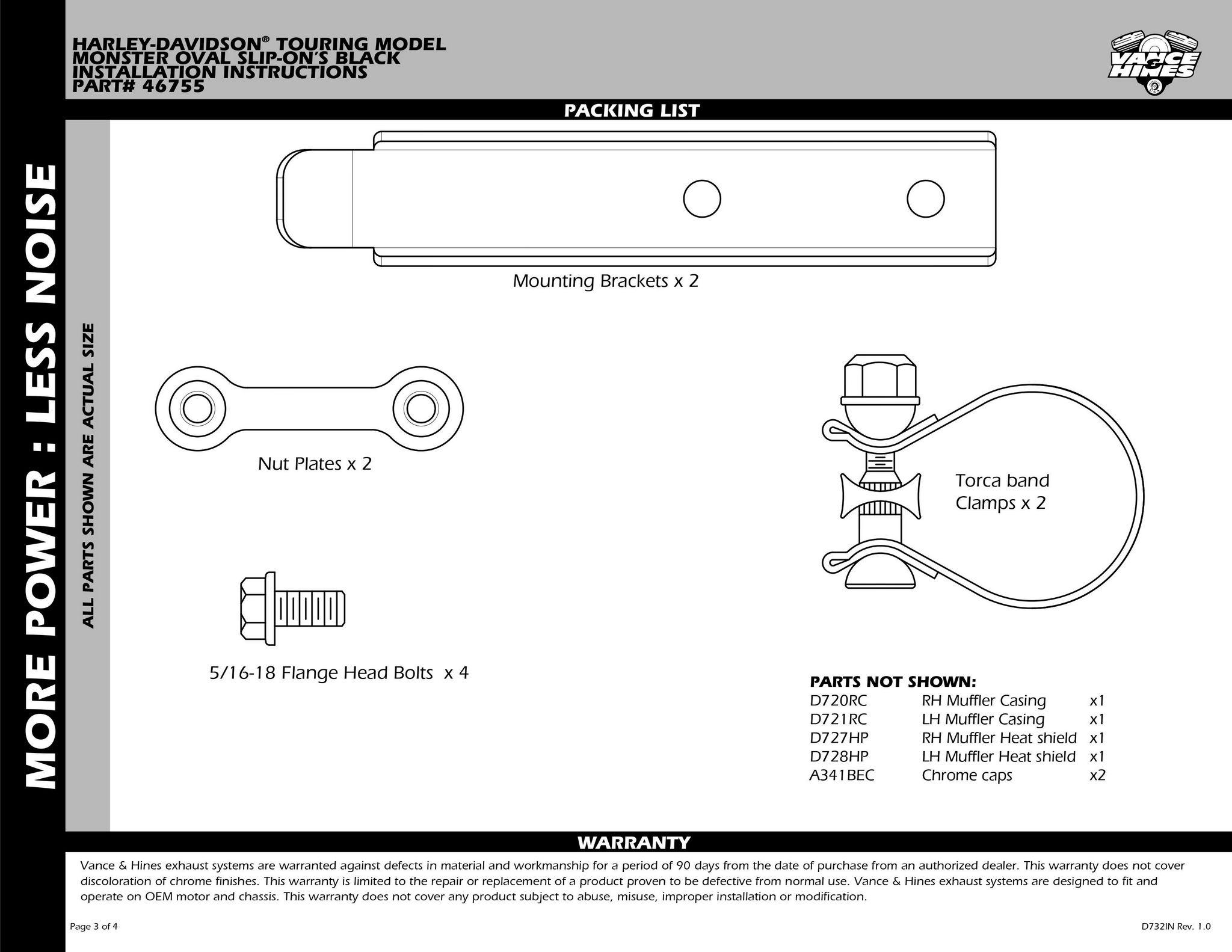 【VANCE&HINES】MONSTER OVAL 排氣管尾段(黑色) - 「Webike-摩托百貨」
