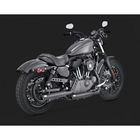 【VANCE&HINES】排氣管尾段 黑色(TWIN SLASH 3″ SLIP-ONS BLACK)