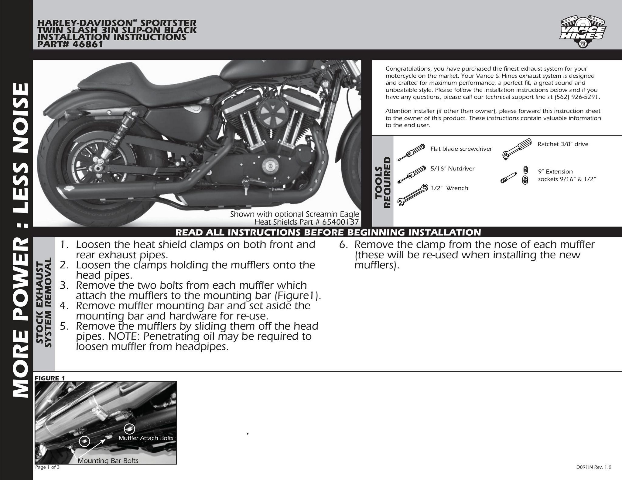【VANCE&HINES】 3吋 TWIN SLASH 排氣管尾段 - 「Webike-摩托百貨」