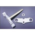 【UNICORN JAPAN】鋁合金切銷加工 43mm前叉用三角台套件 (17吋用)