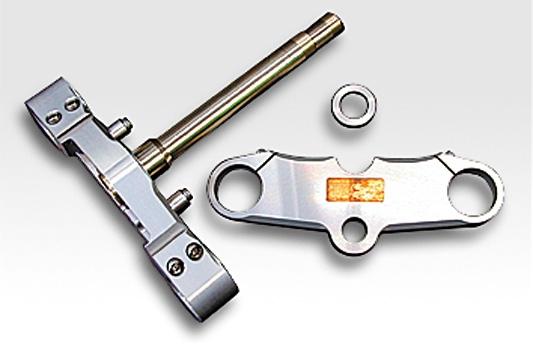 鋁合金切銷加工 43mm前叉用三角台套件 (18吋用)