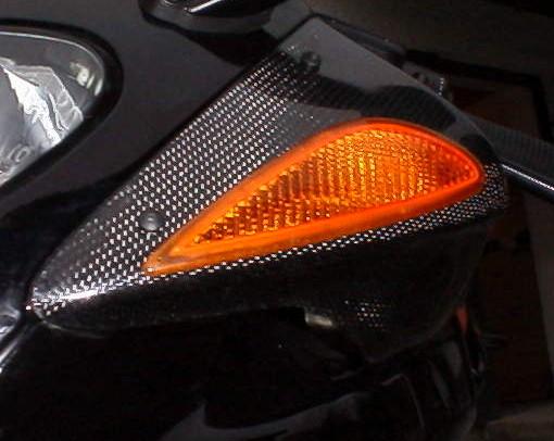 碳纖維前方向燈外蓋 (左)