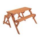 コールマン:COLEMAN/ガーデンウッドテーブル&ベンチ