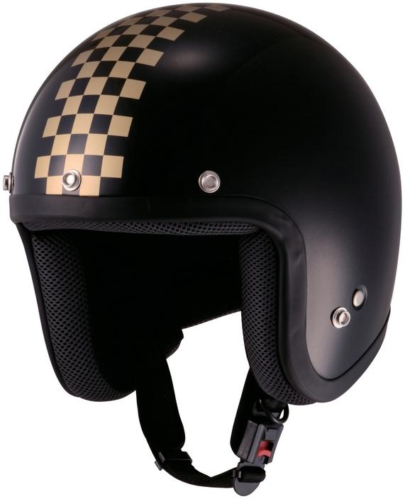 Checker四分之三安全帽