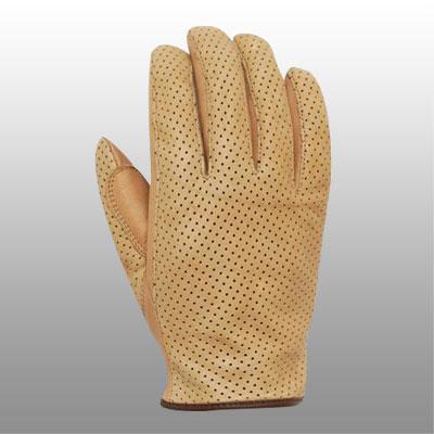 網格皮革手套