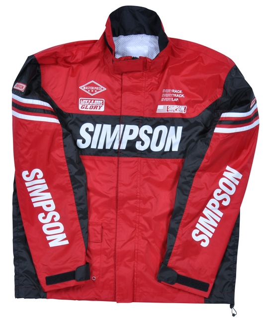 【SIMPSON】成套雨衣/紅色 - 「Webike-摩托百貨」