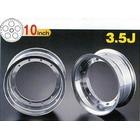 【G-Craft】3.5J 銀色10英吋寬版輪框 3.5J