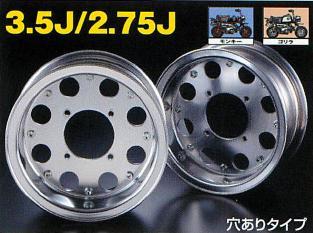 【G-Craft】3.5J 8孔型式 銀色8英吋寬版輪框 3.5J(有開孔) - 「Webike-摩托百貨」