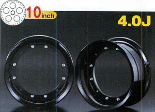 4.0J 黑色 10英吋鋁合金輪框 4.0J