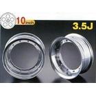 【G-Craft】3.5J 三輻式專用 銀色10英吋鋁合金輪框套件 3.5J