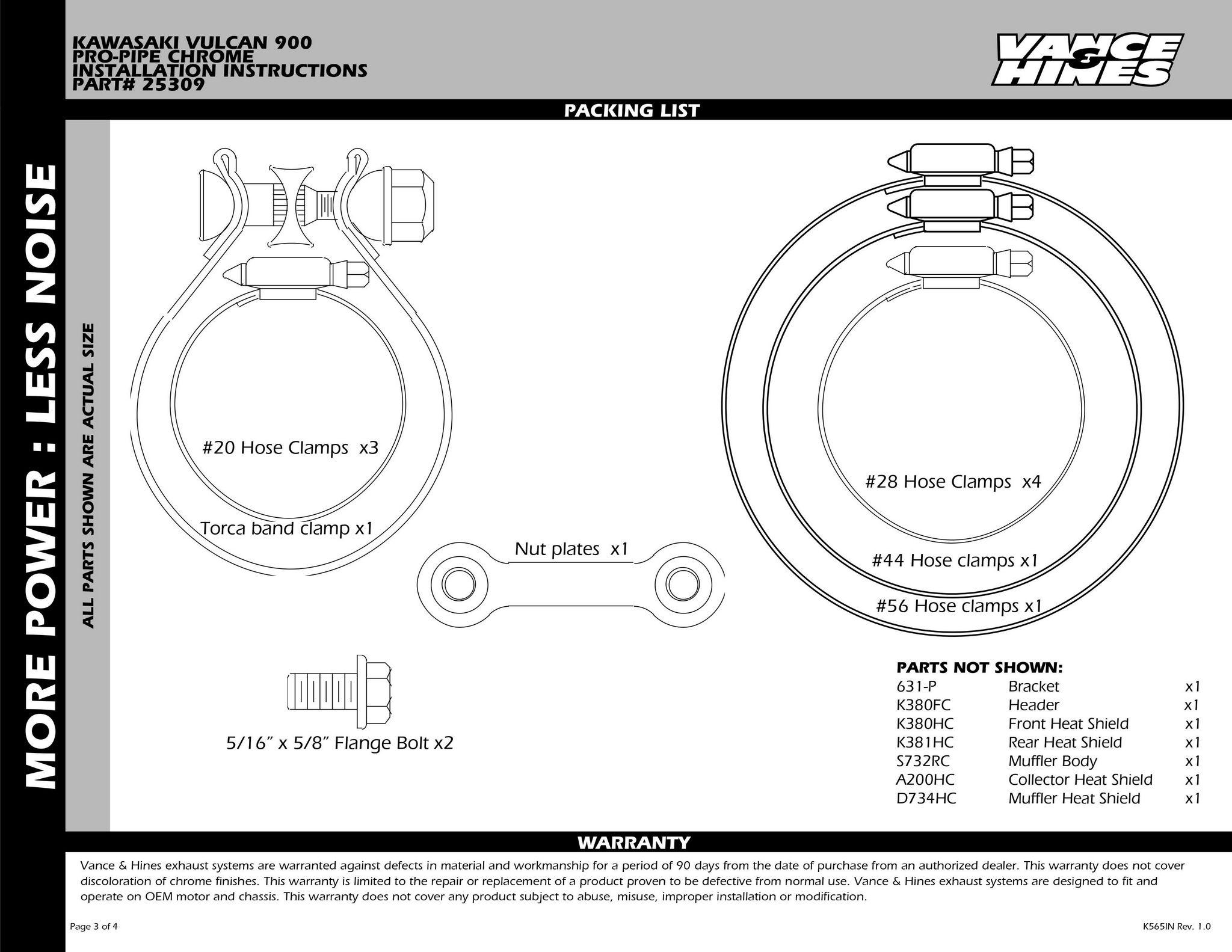 【VANCE&HINES】 PRO PIPE CHROME 全段排氣管 - 「Webike-摩托百貨」
