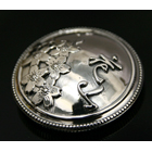 【DEGNER】花山 銀色 金屬裝飾鈕扣925(L)