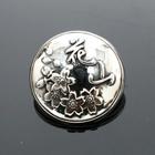 【DEGNER】花山 銀色 金屬裝飾鈕扣925(M)