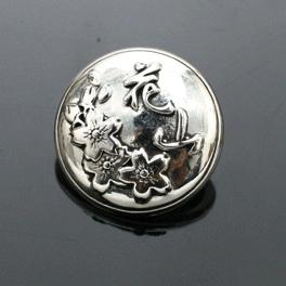 花山 銀色 金屬裝飾鈕扣925(S)