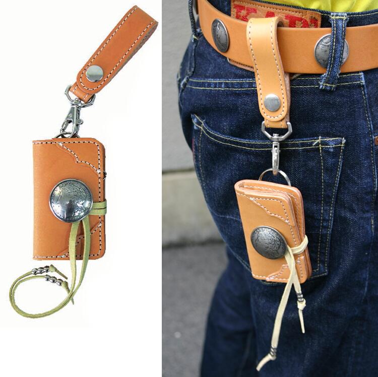 1$金屬裝飾鈕扣鑰匙包