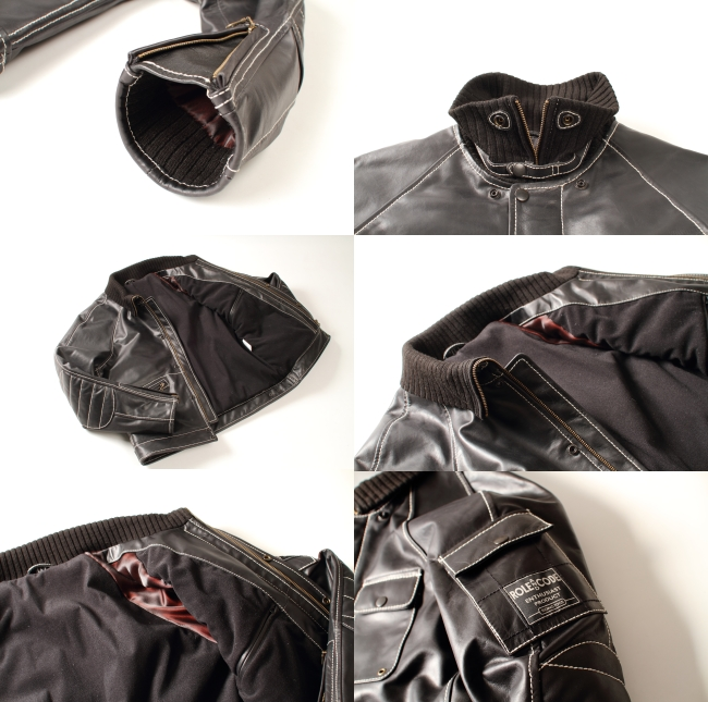 【DEGNER】Raglan皮革夾克 【Roll And Code】 - 「Webike-摩托百貨」