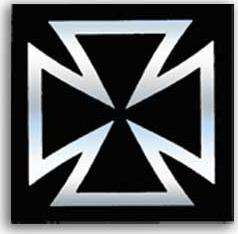 SH1937十字貼紙(黑)