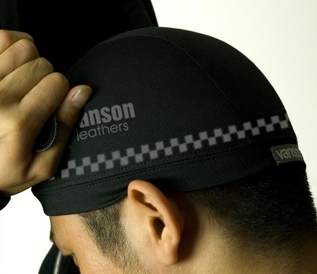 【VANSON】格紋內襯帽 - 「Webike-摩托百貨」