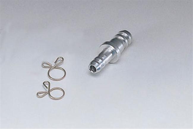 軟管變換口徑轉接頭 6mm=>8mm 銀色