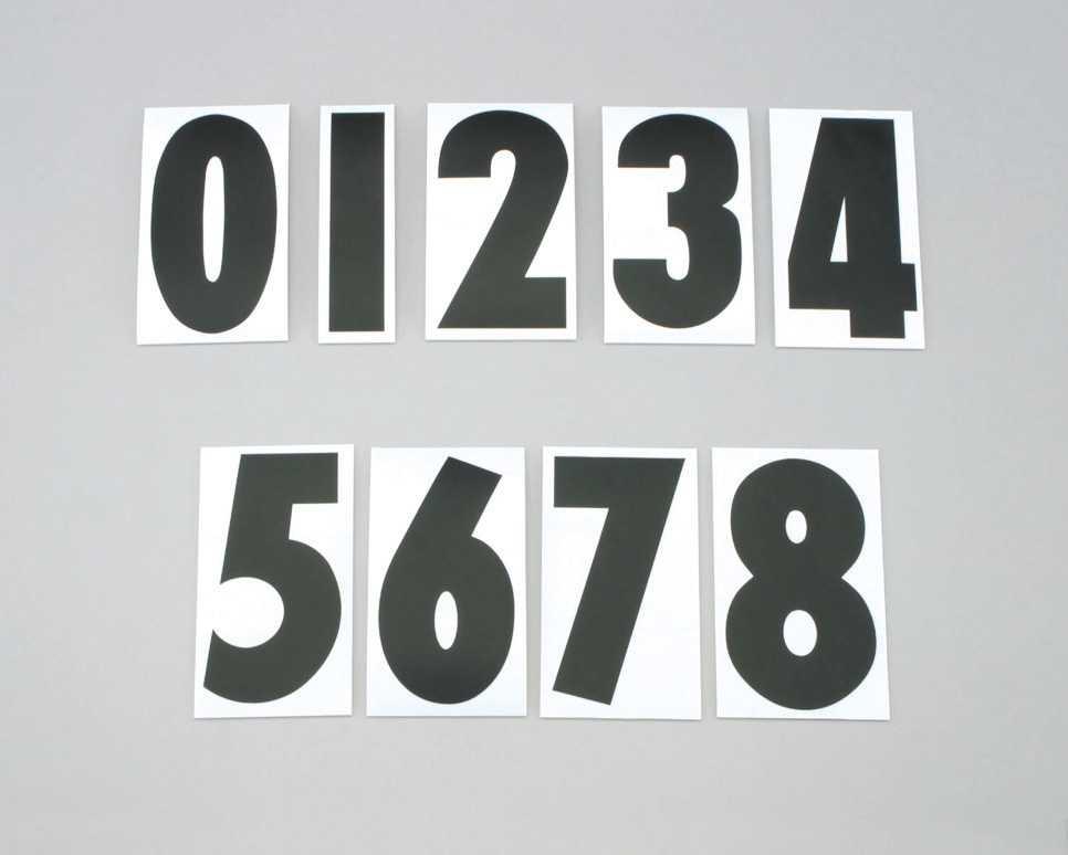 號碼貼紙<0> SIDE/黑色/3Mai