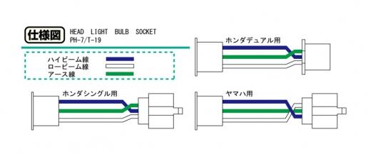 【KITACO】頭燈插座 (Yamaha用 PH-7/T-19燈泡安裝使用) - 「Webike-摩托百貨」