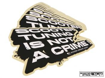 「Scootertuning Is Not A Crime」 貼紙