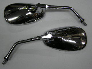 橢圓型 後視鏡 (電鍍/10mm 正牙)