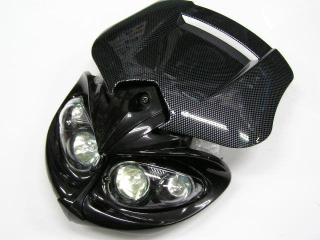 MotoCross 頭燈整流罩 四眼頭燈