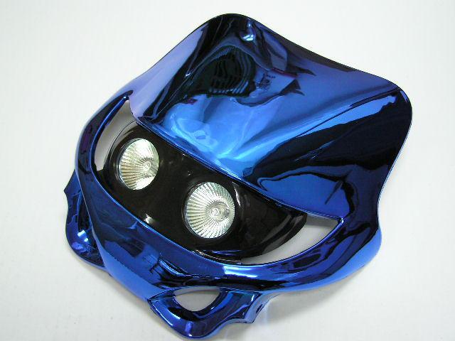 MotoCross 頭燈整流罩  水平型 Type 11  (電鍍藍色)