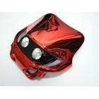 【KN企劃】MotoCross 頭燈整流罩  水平型 Type13  (電鍍紅色)