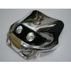 【KN企劃】MotoCross 頭燈整流罩  水平型 Type14  (電鍍銀色)