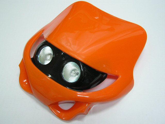 MotoCross 頭燈整流罩  水平型 Type7  (橘色)
