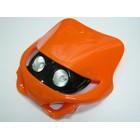 【KN企劃】MotoCross 頭燈整流罩  水平型 Type7  (橘色)
