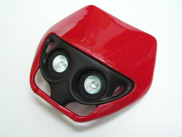 MotoCross 頭燈整流罩  水平型 Type2  (紅色)