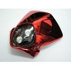 【KN企劃】MotoCross 頭燈整流罩  垂直型 Type13  (電鍍紅色)