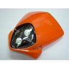 【KN企劃】MotoCross 頭燈整流罩  垂直型 Type7  (橘色)