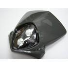 【KN企劃】MotoCross 頭燈整流罩  垂直型 Type8  (灰色)