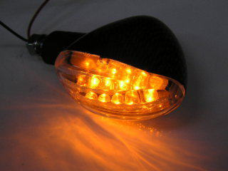 LED 碳纖維紋路樣式 方向燈