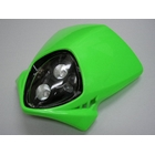 【KN企劃】MotoCross 頭燈整流罩  (垂直型/雙燈/綠色)