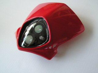 MotoCross 頭燈整流罩  (垂直型/雙燈)【紅色】