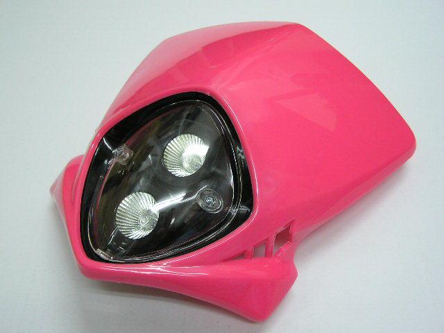 MotoCross 頭燈整流罩  (垂直型/雙燈)【粉紅色】